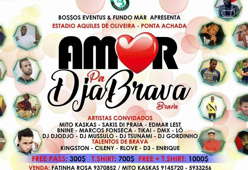 Amor pa DjaBrava com Mito Kaskas, Sakis di Praia, Edmar Lest, Marcos Fonseca, Tikai, DMX, Ló, no Estádio Aquiles de Oliveira