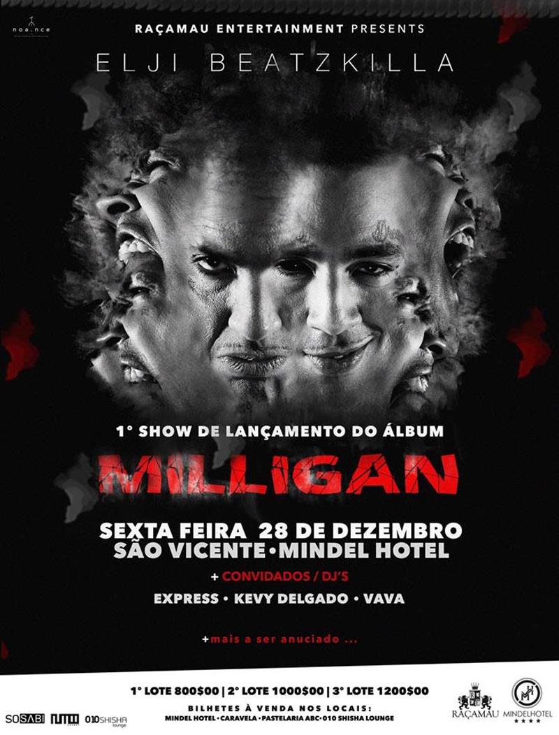 Elji Beatzkilla - lançamento do álbum «Milligan» no Mindel Hotel 78a3624ba07